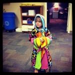 Rainbow coat